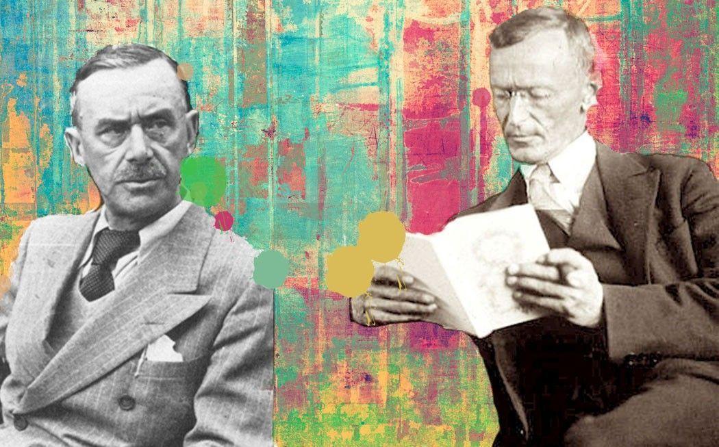 Thomas Mann y Hermann Hesse