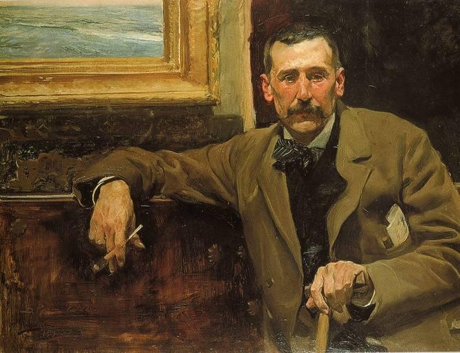 Benito Pérez Galdós retratado por Joaquín Sorolla (1894) - Wikimedia Commons