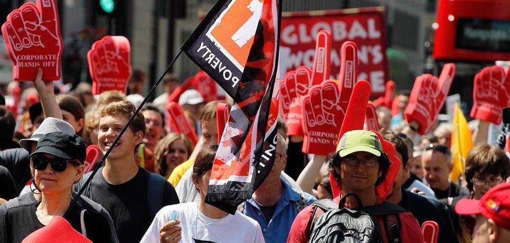 Protesta en Londres contra el TTIP, por World Developement Movment con licencia [CC BY 2.0]
