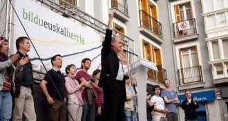 El diputado general de Guipúzcoa, Martín Garitano, en la campaña electoral de 2011. Fotografía de Bildu con licencia [CC BY-SA 3.0]