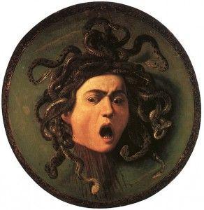 """""""Medusa"""" de Caravaggio. Wikipedia Commons."""