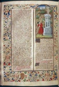 Manuscrito original de la edición de 1460 de El Decamerón de Boccaccio. Foto: Wikipedia Commons.