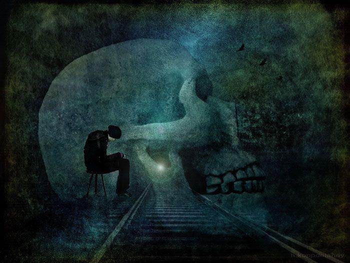 The thinker in the dark - A5. Fotografía de Hartwig HKD. Bajo licencia CC.
