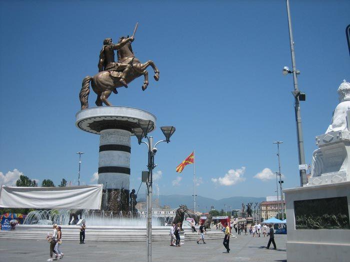Estatua de Alejandro Magno en el centro de Skopje, por Prince Roy bajo licencia [CC BY 2.0]