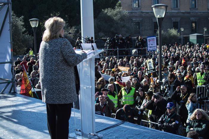 Pedraza, el pasado 24 de enero en la última concentración de la AVT. Imagen cedida por la AVT