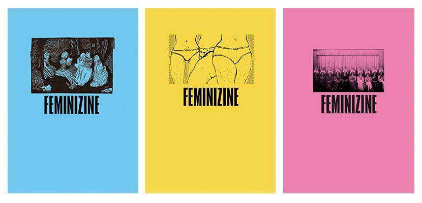 Portadas de Femizine #1, #2 y #3