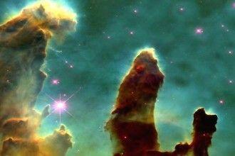 """""""Los pilares de la creación"""" en la Nebulosa del Aguila (Wikipedia Commons)"""