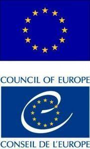 Banderas de la UE y del Consejo de Europa