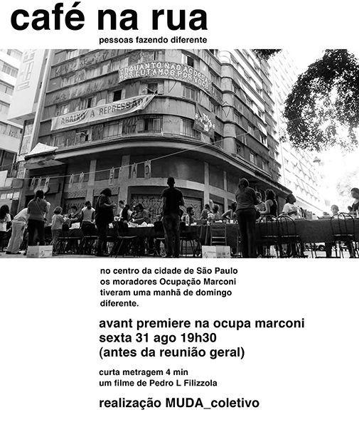 Cafe na rua, actividad colectiva en la ocupación Marconi cc Movimento moradia