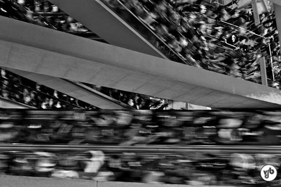Metro de São Paulo en hora punta cc Vadebike