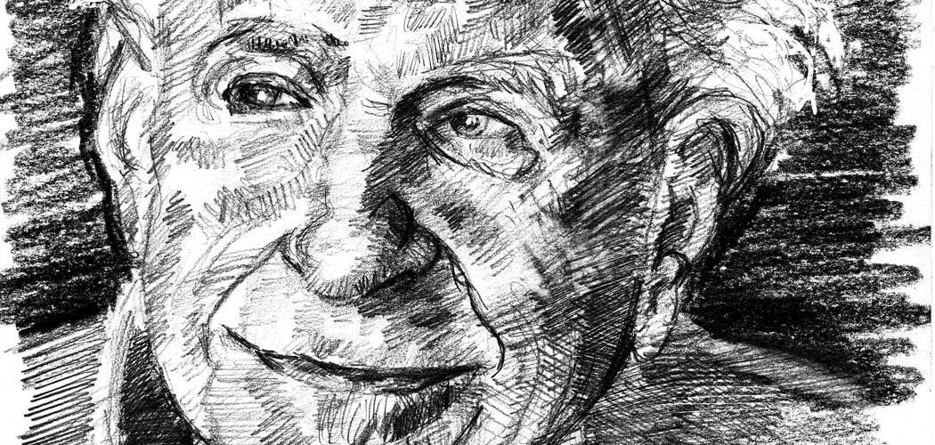 Dibujo de Karl Popper de Arturo Espinosa, publicado bajo licencia CC