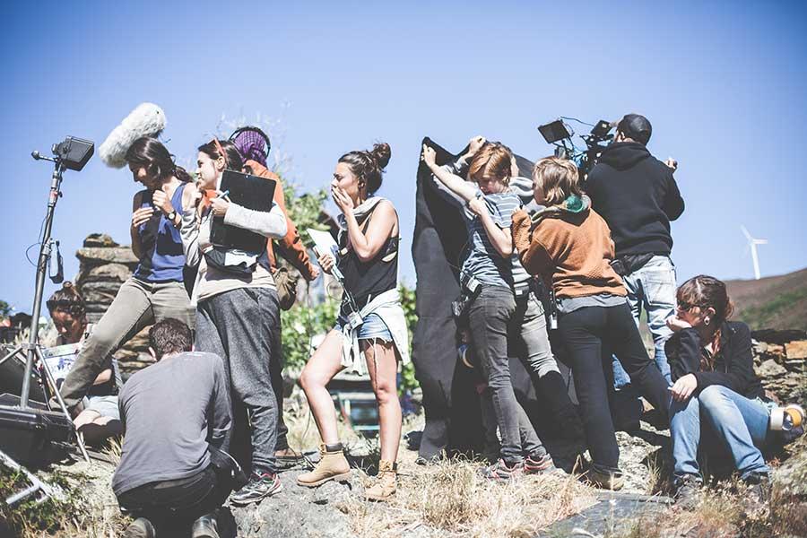 Pocos rodajes de cine han visto trabajar a tantas mujeres juntas. Foto: Zhana Yordanova