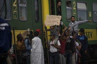 Refugiados sirios en la estación Budapest-Keleti el pasado 4 de septiembre. Imagen de Mstyslav Chernov en Flickr bajo licencia CC