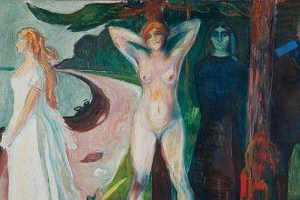 'Mujer', 1925, E. Munch. Óleo sobre lienzo. Munch Museet, Oslo.