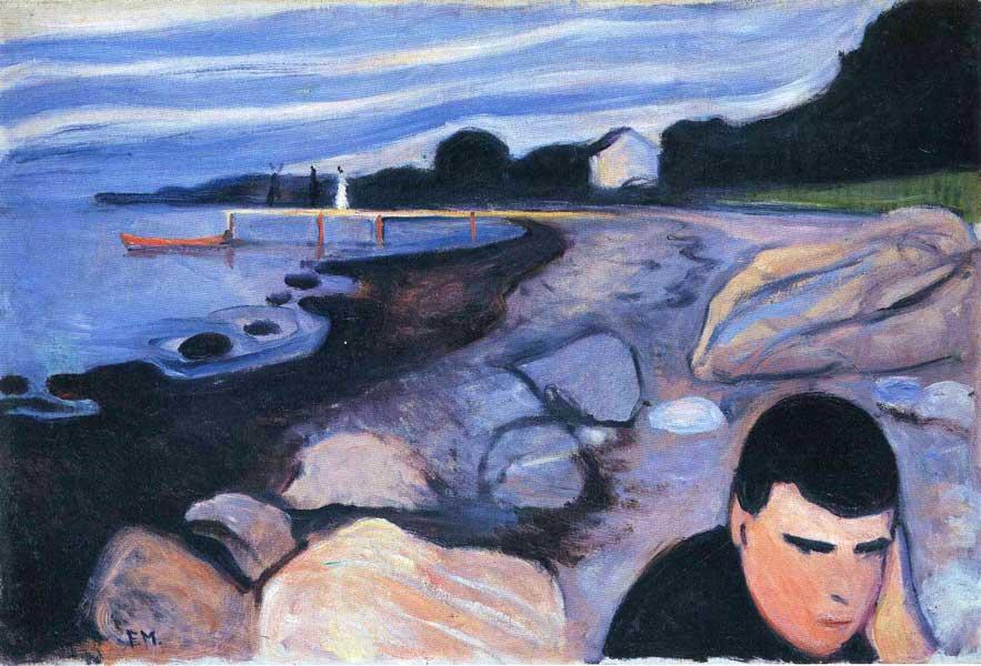 'Melancolía', 1892. E. Munch. Óleo sobre lienzo. National Gallery, Oslo.