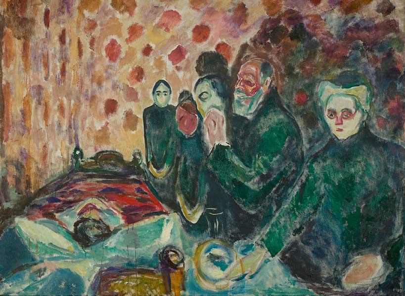 'Agonía', 1915, E. Munch. Óleo sobre lienzo. Munch Museet, Oslo.