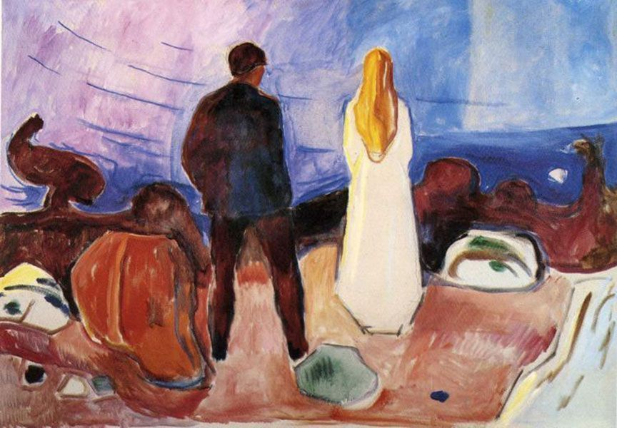 'Dos seres humanos. Los solitarios', 1933-1935, E. Munch. Öleo sobre lienzo. Munch-Museet, Oslo