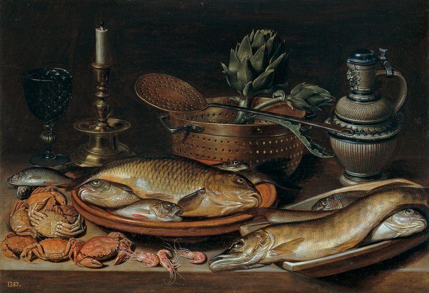Bodegón, 1611. Óleo sobre tabla, 50 x 72 cm. Clara Peeters. Museo Nacional del Prado.