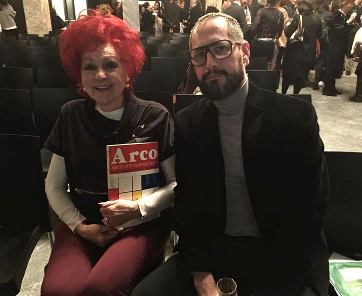 Cazadores de novedad: Juana de Aizpuru y Antonio Lobo en el homenaje a Arco Madrid en el CBA el 1 de febrero de 2016. Fuente: Antonio Lobo, Flickr.