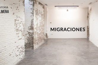 Cartel de 'Migraciones'. Diseño: Marina Benito.