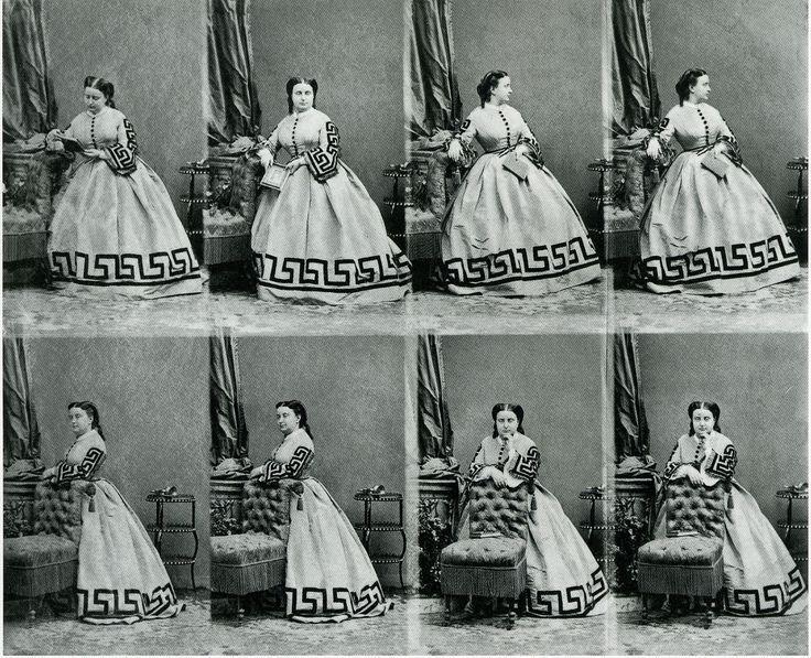 'Retrato de una mujer sin identificar', André Adolphe Eugène Disdéri, h. 1860-65.