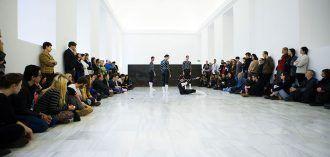 Estreno de 'Equal elevations', última coreografía de La Veronal para el Museo Reina Sofía. Foto: Cristina González y Naiara Ruperto