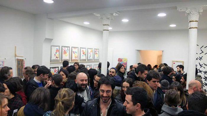 Inauguración de'Amalgama' de Eltono en 2014. Foto: Eltono y Miguel Rosón.