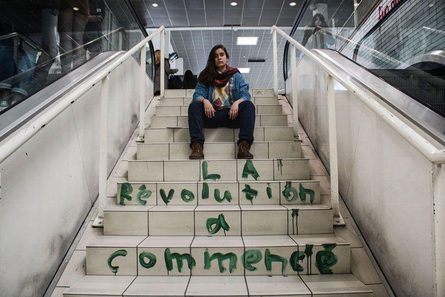 Lucía Zurita, estudiante de tercer año de Filosofía. Fotografía de Teresa Suárez.