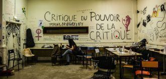 Sala ocupada al servicio de los estudiantes de cine. Fotografía de Teresa Suárez.