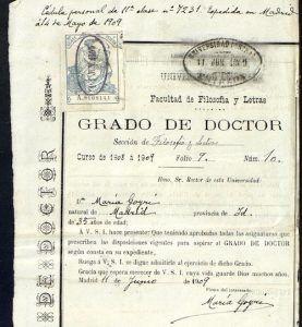 Acta de Grado de Doctor