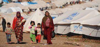 Mujeres en un campo de refugiados en Siria. Fuente: http://cloaca.es/