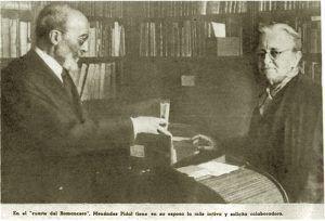 Fotografía de la entrevista publicada en la revista Semana el 10 de noviembre de 1948