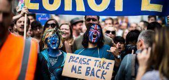 Protesta en Londres contra el brexit. Imagen de Garon S publicada en Flickr bajo licencIa CC.