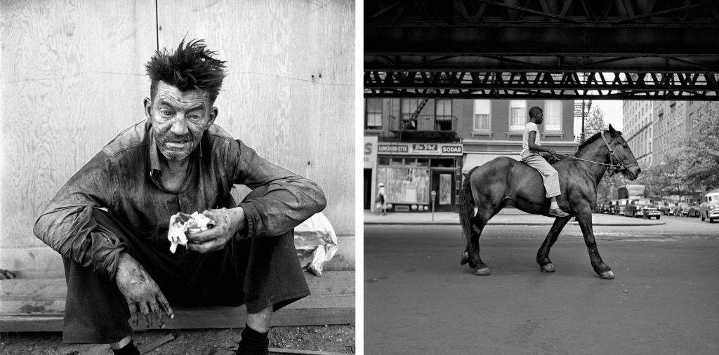Izquierda: 24 septiembre, 1959, Nueva York. Derecha: Nueva York.