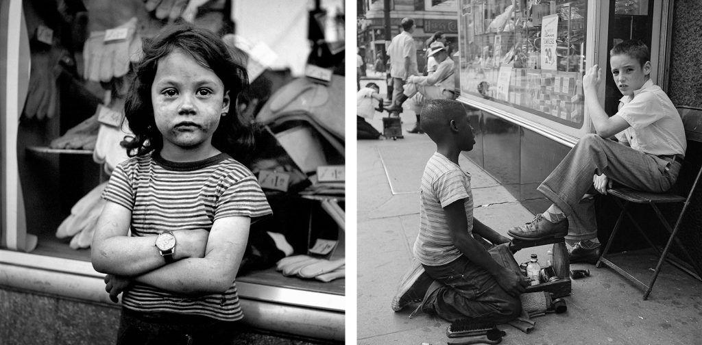 Izquierda: Sin título, sin fecha. Derecha: Nueva York, 1954.