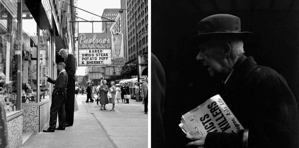 Izquierda: Agosto, 1960, Chicago. Derecha: sin título.