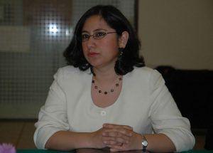 La doctora Irma Eréndira Sandoval.