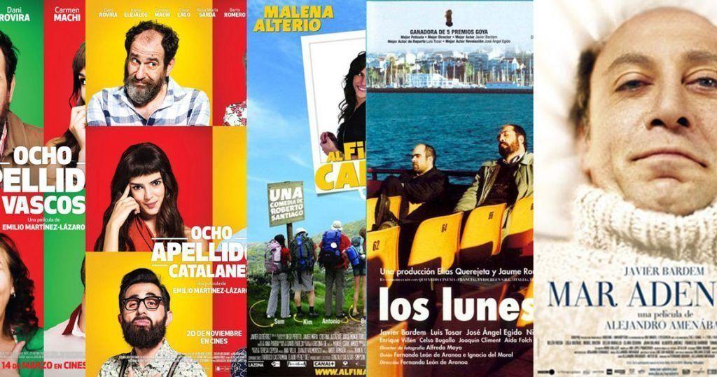 Montaje del autor con posters de películas que dan pinceladas de la diversidad española.