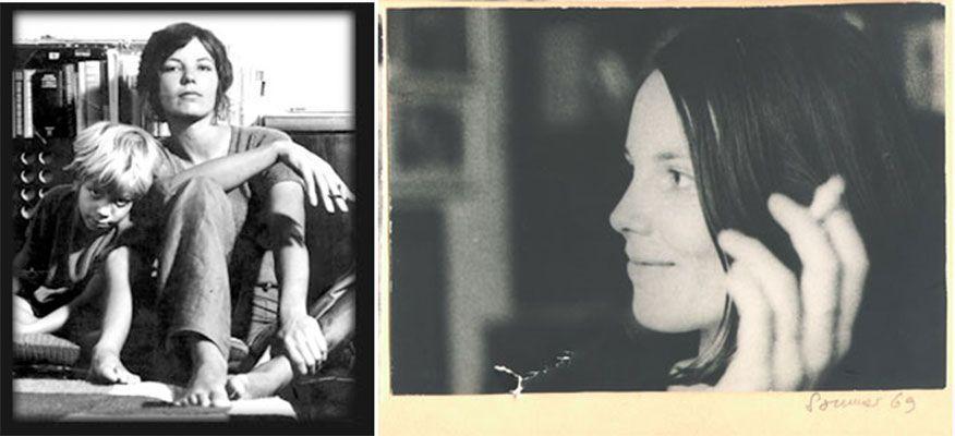 A la izquierda, Sibylle con su hijo Robby. A la derecha Sibylle en un verano del 69.