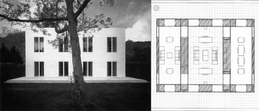 """Haus ohne Eigenschaften"" (casa sin cualidades), Oswald Mathias Ungers, Colonia, 1995."