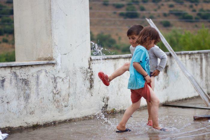 Lluvias en la casa de los Yazidi.