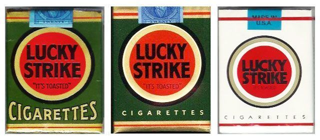 Diseño para Lucky Strike de Raymond Loewy.