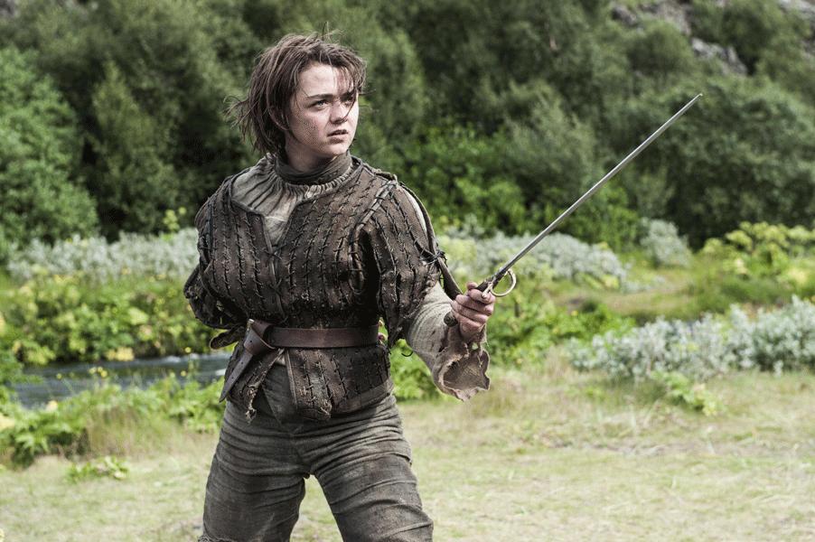 Arya Stark en Juego de Tronos.