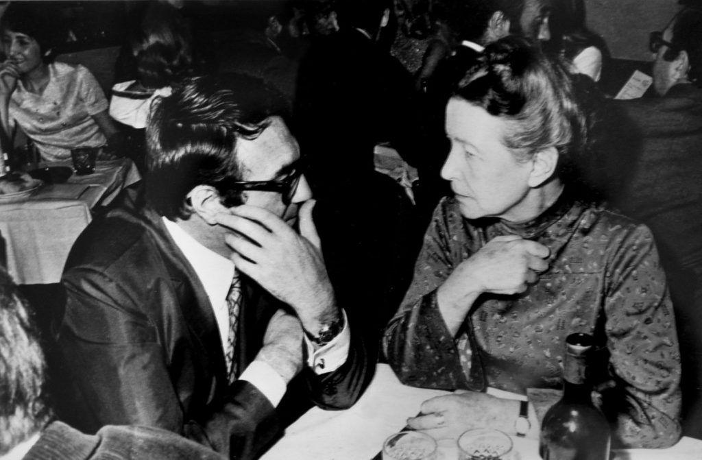 Simone de Beauvoir y Claude Lanzmann, París ca. 1975. Colección particular