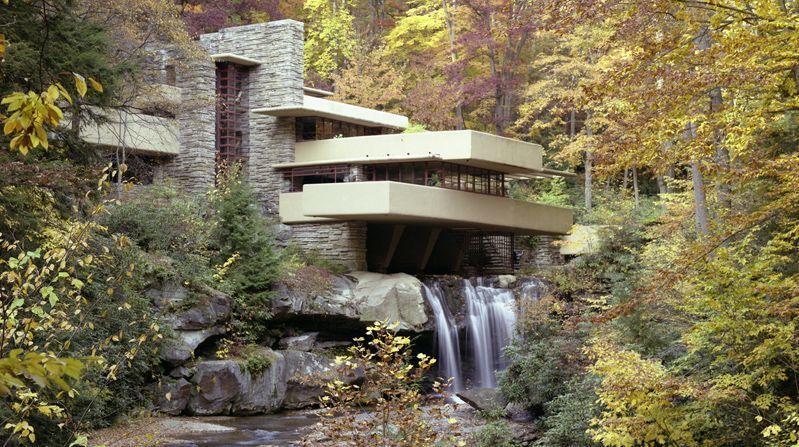 Casa de la cascada, de Frank Lloyd Wright, construida en la década de 1930 en Pensilvania (EEUU)