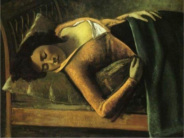 Balthus (1943), «Muchacha dormida», Colección Tate Londres