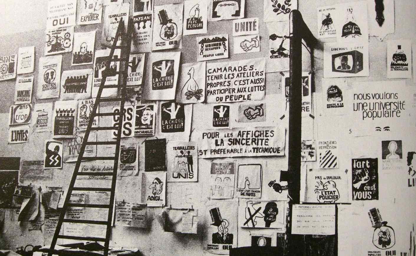 Atelier de l'Ecole Nationale Supérieure des Arts Décoratifs (1968).