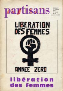 Portada del número especial de la Revue Partisans, titulada «Liberación de las mujeres. Año cero», noviembre 1970.
